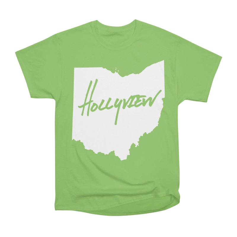 Hollyview Ohio - White Ink Men's Heavyweight T-Shirt by hollyview's Artist Shop