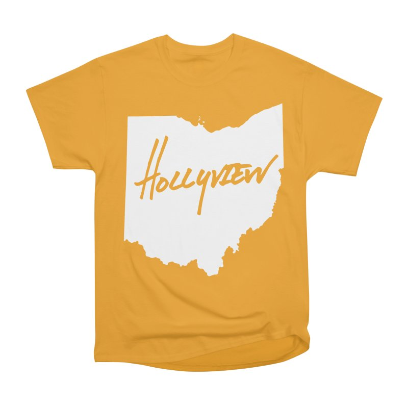 Hollyview Ohio - White Ink Men's Classic T-Shirt by hollyview's Artist Shop