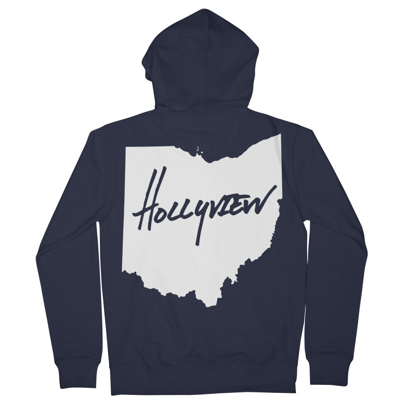 Hollyview Ohio - White Ink Women's Zip-Up Hoody by hollyview's Artist Shop