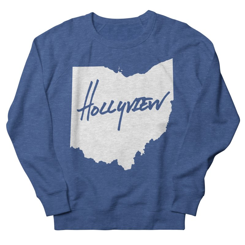 Hollyview Ohio - White Ink Women's French Terry Sweatshirt by hollyview's Artist Shop