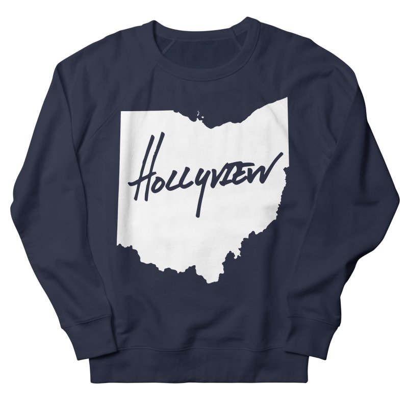 Hollyview Ohio - White Ink Men's French Terry Sweatshirt by hollyview's Artist Shop
