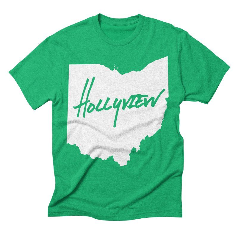 Hollyview Ohio - White Ink Men's Triblend T-Shirt by hollyview's Artist Shop