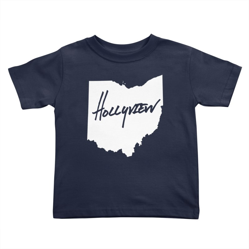Hollyview Ohio - White Ink Kids Toddler T-Shirt by hollyview's Artist Shop