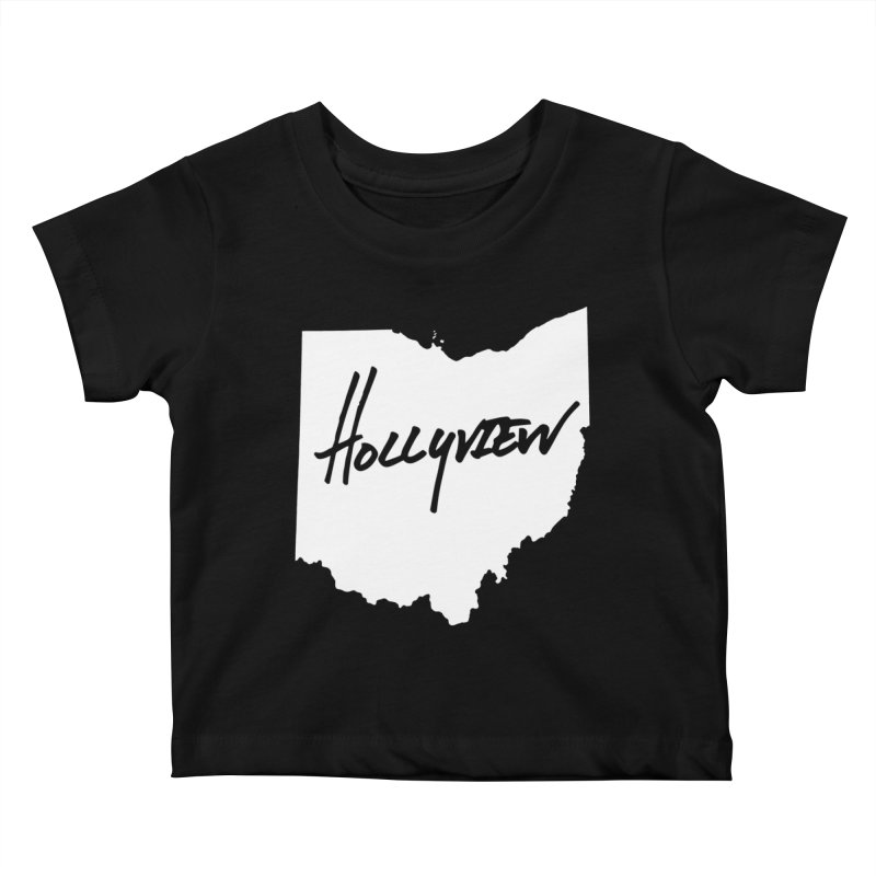 Hollyview Ohio - White Ink Kids Baby T-Shirt by hollyview's Artist Shop