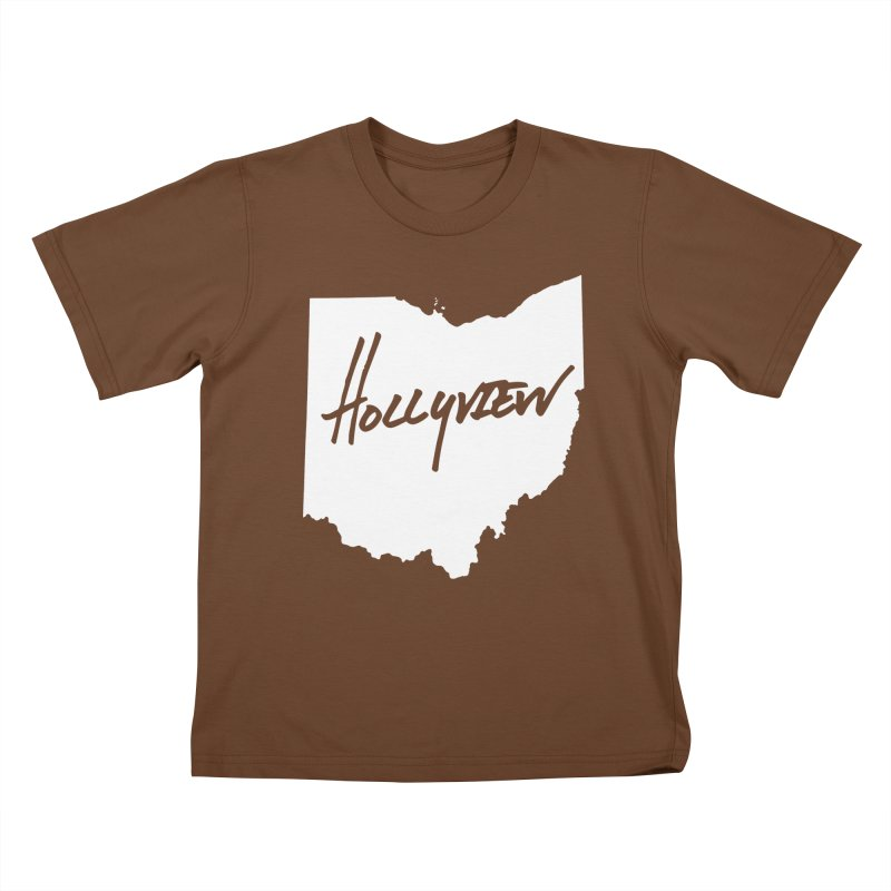 Hollyview Ohio - White Ink Kids T-Shirt by hollyview's Artist Shop