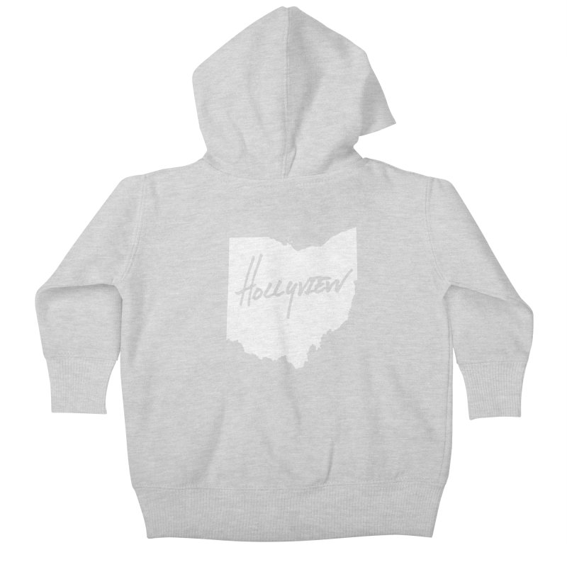 Hollyview Ohio - White Ink Kids Baby Zip-Up Hoody by hollyview's Artist Shop