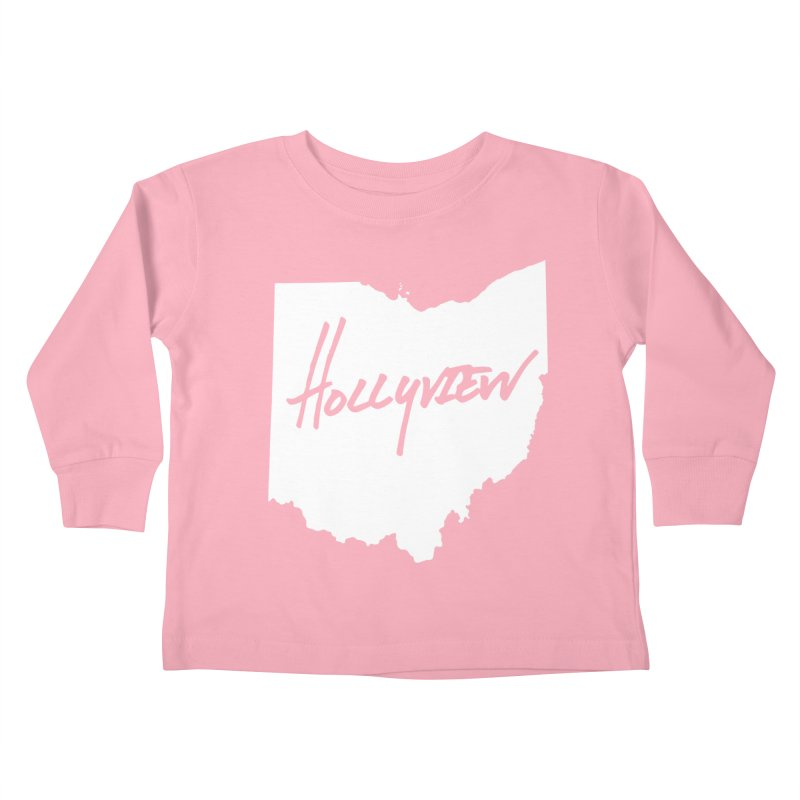 Hollyview Ohio - White Ink Kids Toddler Longsleeve T-Shirt by hollyview's Artist Shop