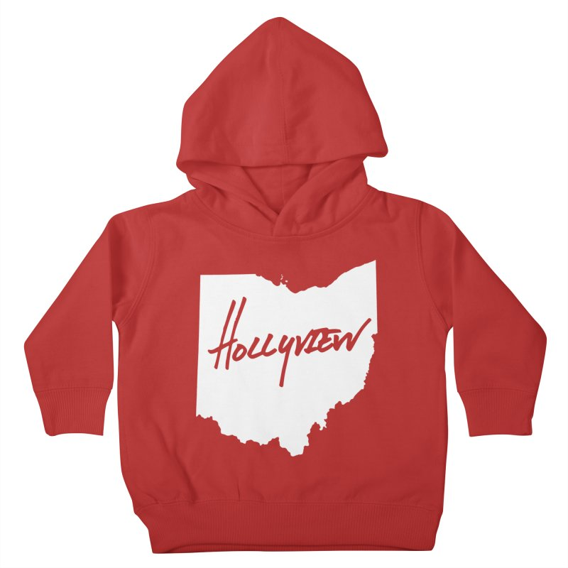 Hollyview Ohio - White Ink Kids Toddler Pullover Hoody by hollyview's Artist Shop