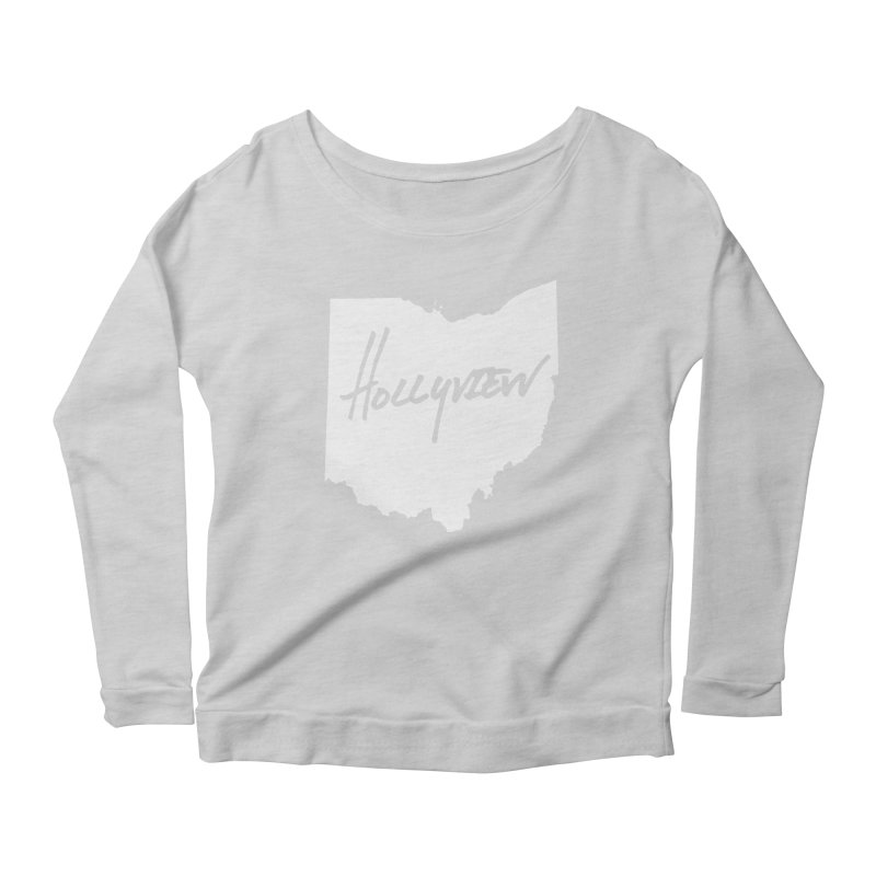Hollyview Ohio - White Ink Women's Scoop Neck Longsleeve T-Shirt by hollyview's Artist Shop