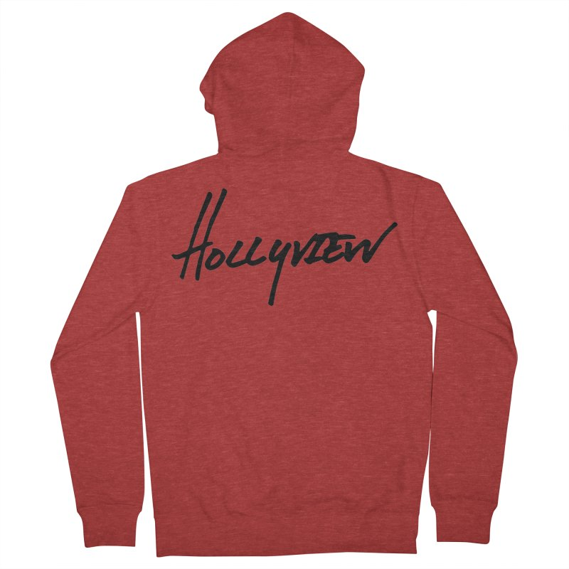 Hollyview Handwriting  Men's French Terry Zip-Up Hoody by hollyview's Artist Shop