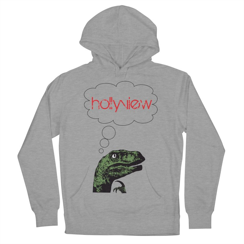 Clever Raptor Men's French Terry Pullover Hoody by hollyview's Artist Shop