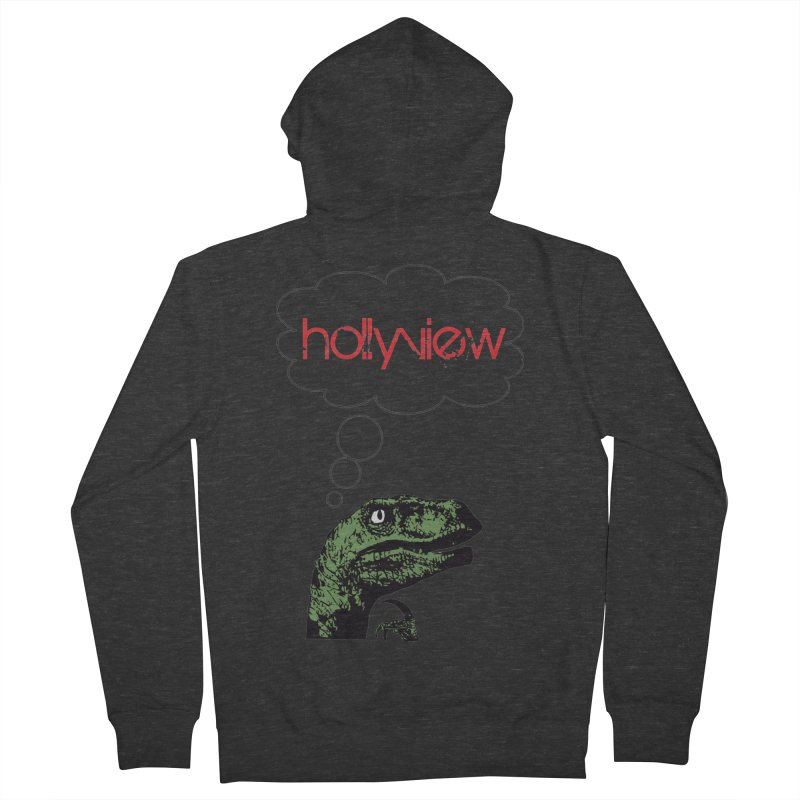 Clever Raptor Men's French Terry Zip-Up Hoody by hollyview's Artist Shop