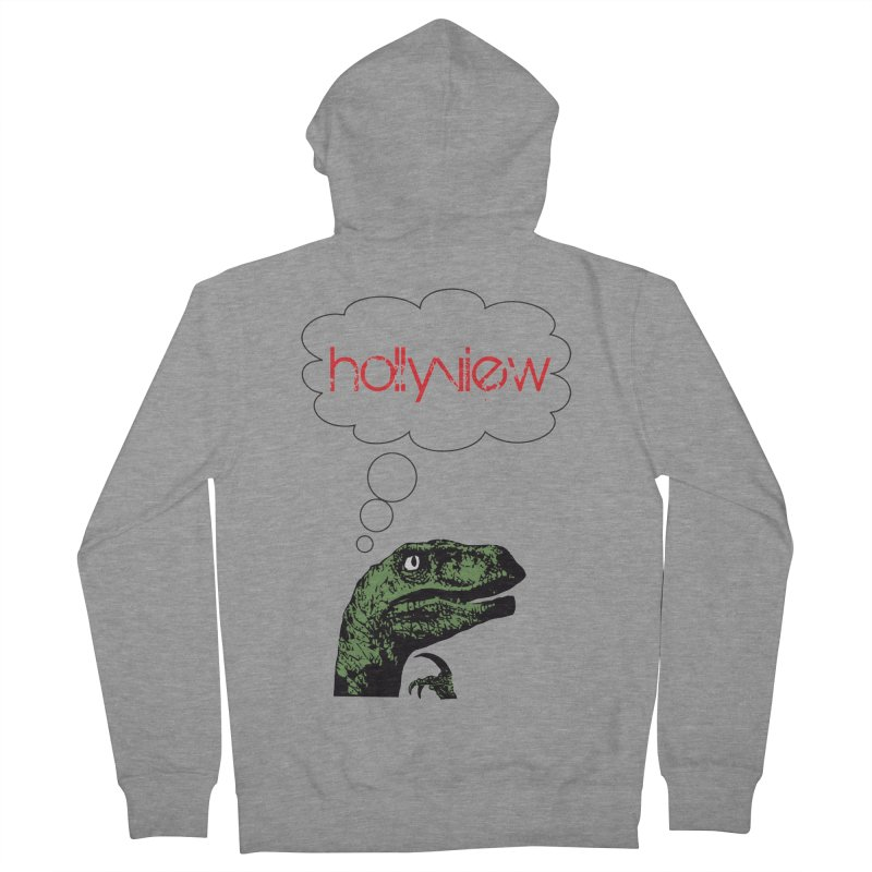 Clever Raptor Men's Zip-Up Hoody by hollyview's Artist Shop