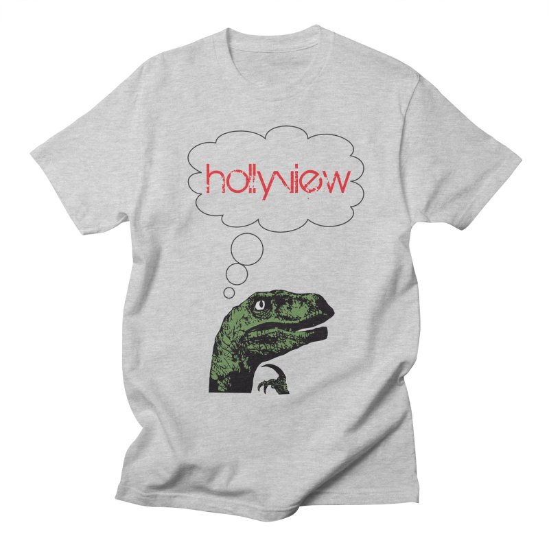 Clever Raptor Men's Regular T-Shirt by hollyview's Artist Shop