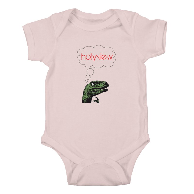 Clever Raptor Kids Baby Bodysuit by hollyview's Artist Shop