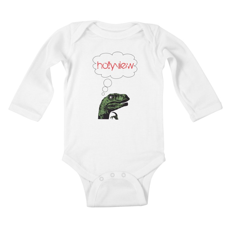 Clever Raptor Kids Baby Longsleeve Bodysuit by hollyview's Artist Shop