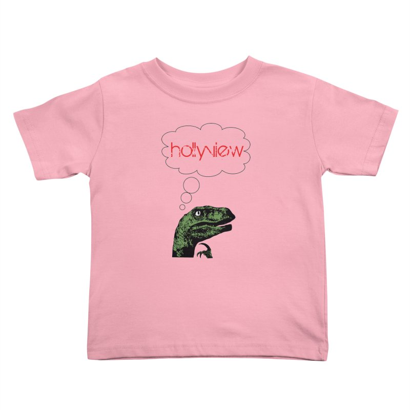 Clever Raptor Kids Toddler T-Shirt by hollyview's Artist Shop
