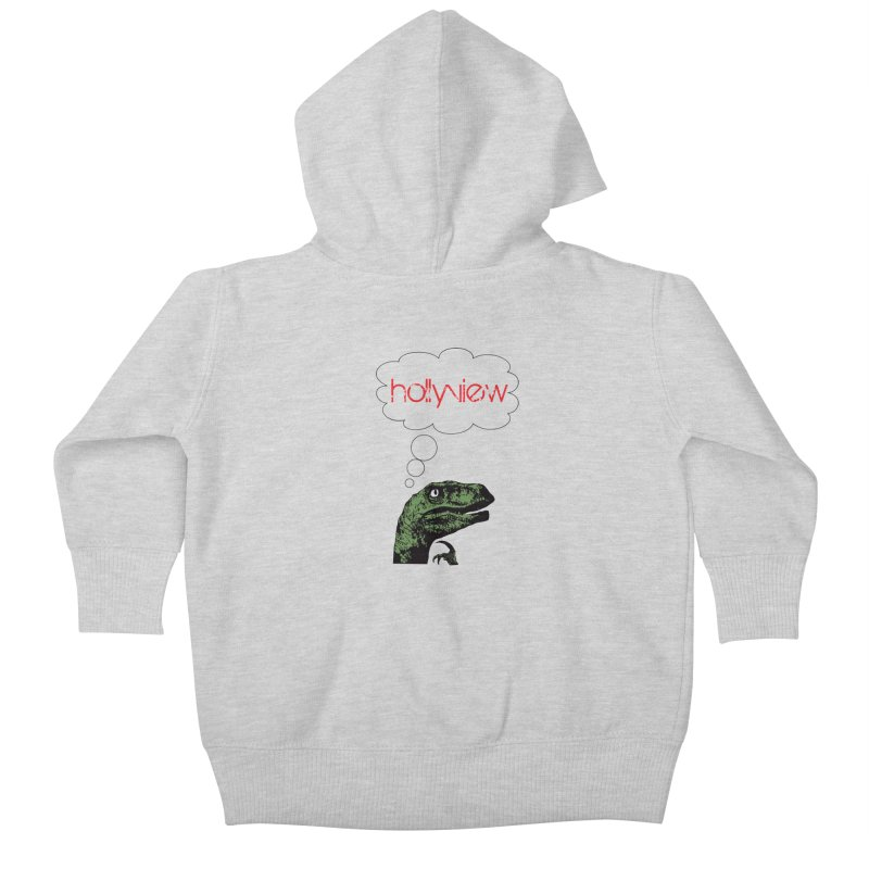 Clever Raptor Kids Baby Zip-Up Hoody by hollyview's Artist Shop