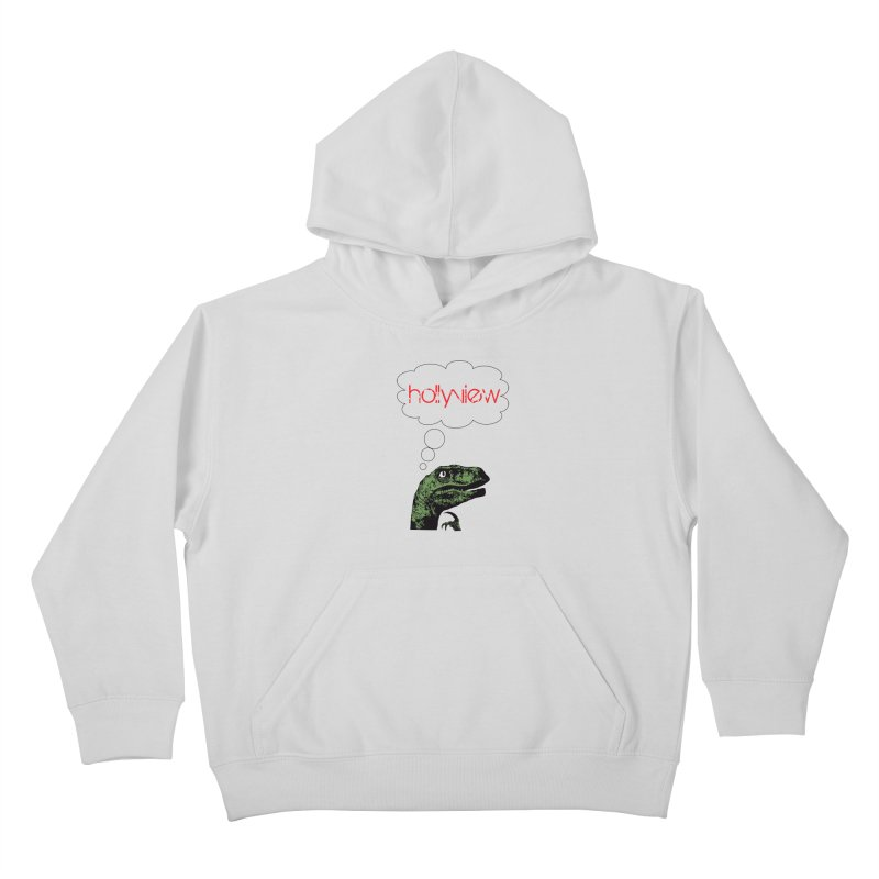 Clever Raptor Kids Pullover Hoody by hollyview's Artist Shop