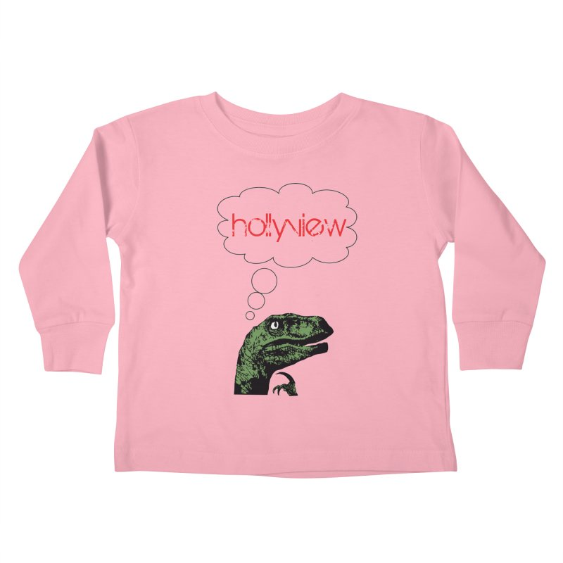 Clever Raptor Kids Toddler Longsleeve T-Shirt by hollyview's Artist Shop