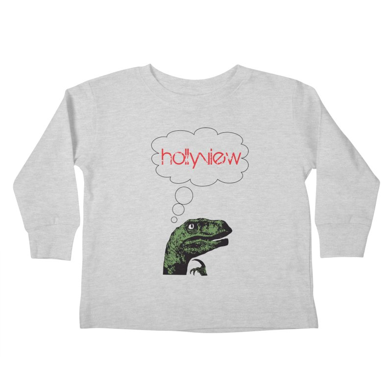 Clever Raptor Kids Toddler Longsleeve T-Shirt by hollyview's Artist Shop
