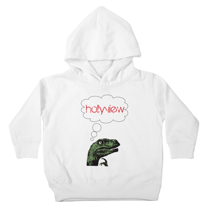 Clever Raptor Kids Toddler Pullover Hoody by hollyview's Artist Shop