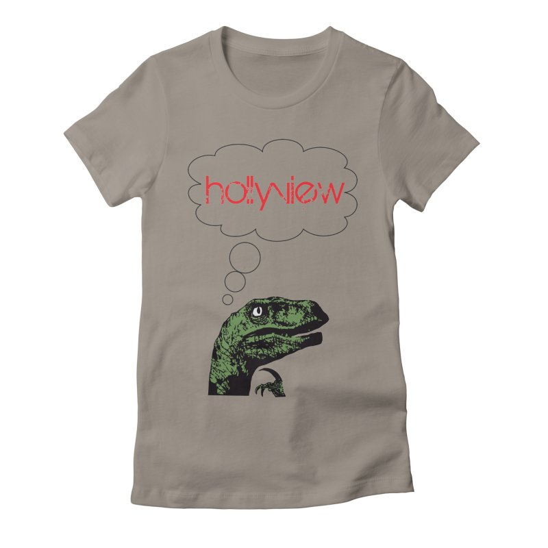 Clever Raptor Women's Fitted T-Shirt by hollyview's Artist Shop