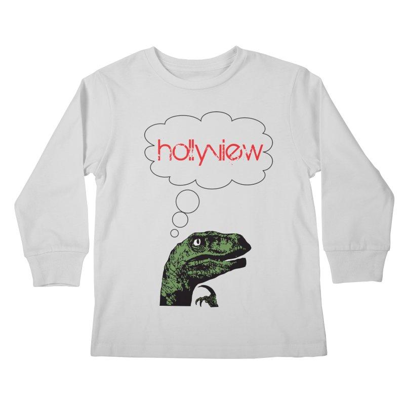 Clever Raptor Kids Longsleeve T-Shirt by hollyview's Artist Shop