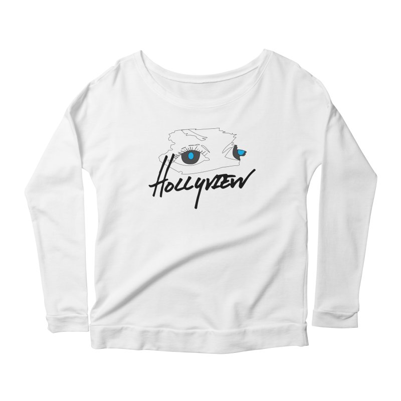 Eyes Women's Scoop Neck Longsleeve T-Shirt by hollyview's Artist Shop