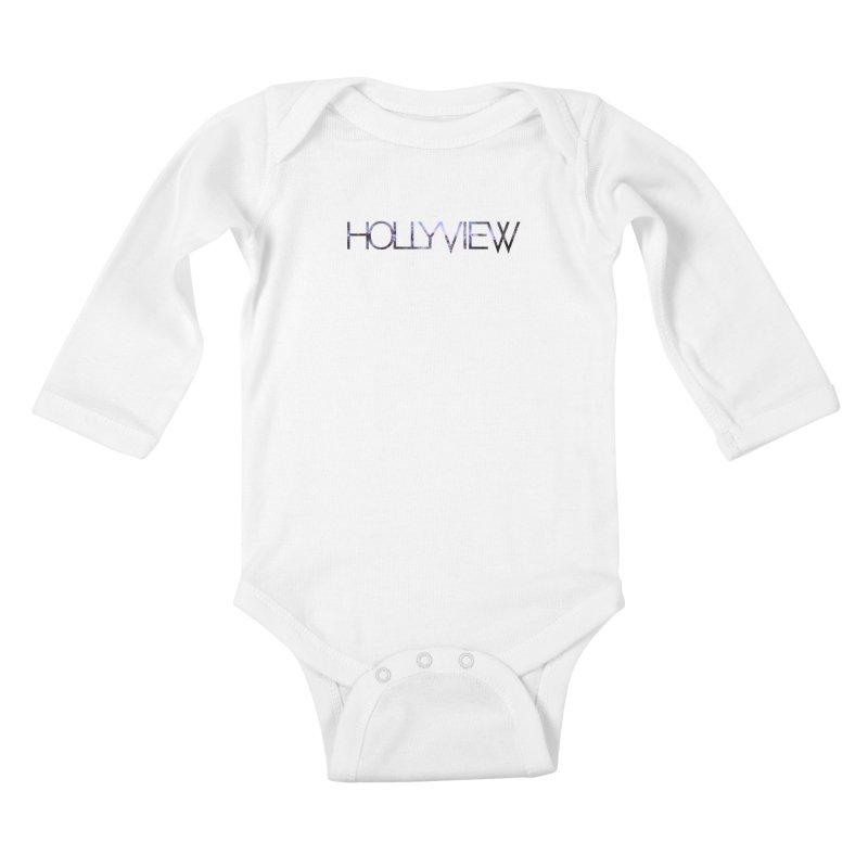 SPACE 1 Kids Baby Longsleeve Bodysuit by hollyview's Artist Shop