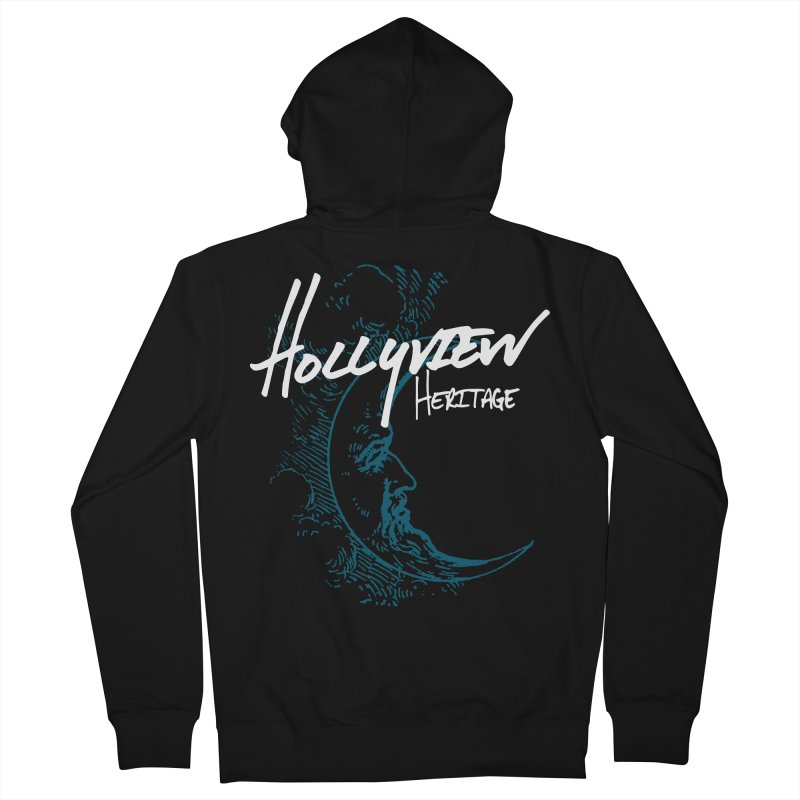 Moon Men's French Terry Zip-Up Hoody by hollyview's Artist Shop