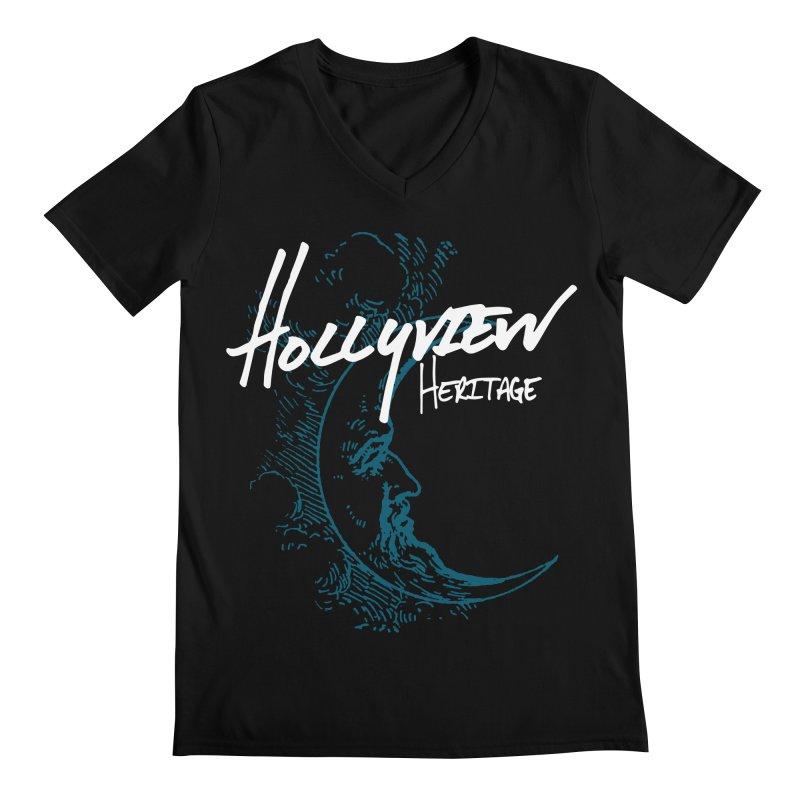 Moon Men's Regular V-Neck by hollyview's Artist Shop