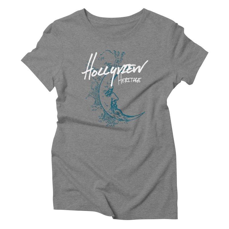 Moon Women's Triblend T-Shirt by hollyview's Artist Shop