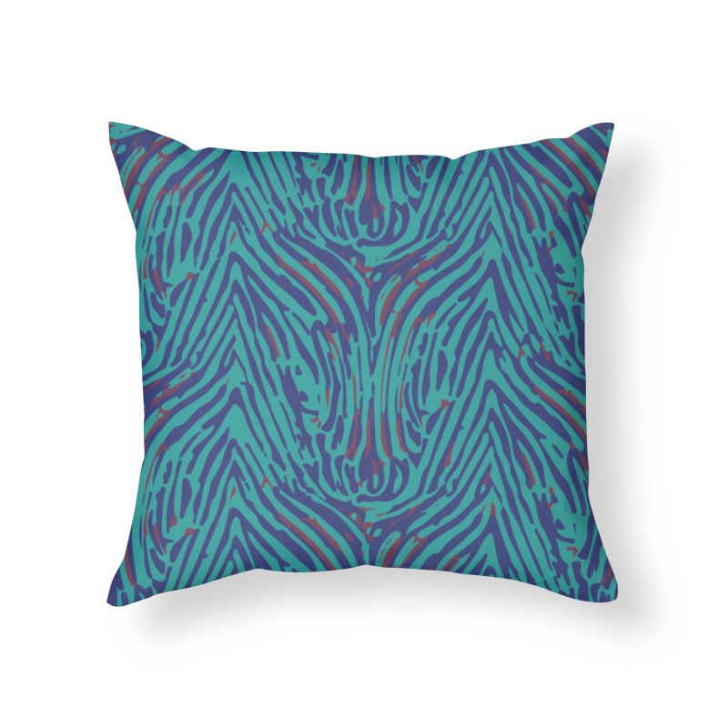 Polyrhachis decora - sea green Home Throw Pillow by Holotype