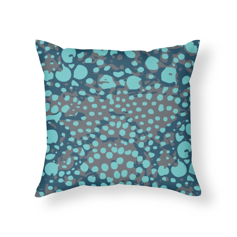 Rhopalothrix diadema - blue Home Throw Pillow by Holotype