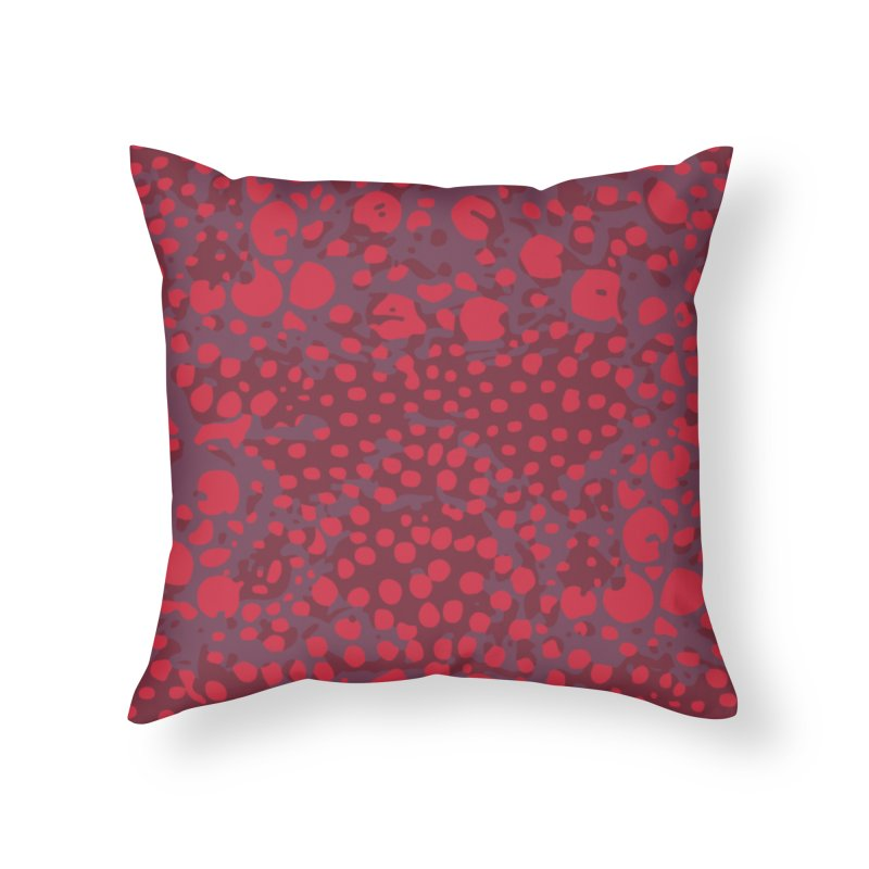 Rhopalothrix diadema - red Home Throw Pillow by Holotype