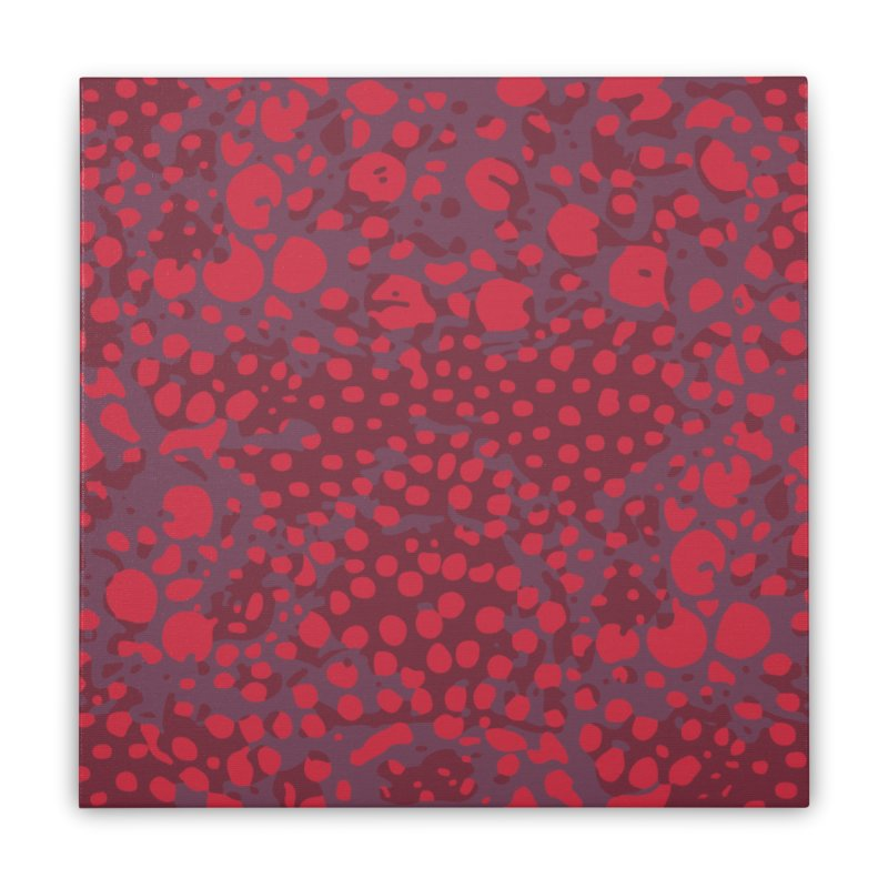 Rhopalothrix diadema - red Home Stretched Canvas by Holotype