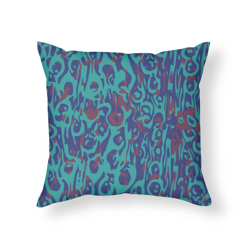 Gnamptogenys taivanensis - sea green Home Throw Pillow by Holotype