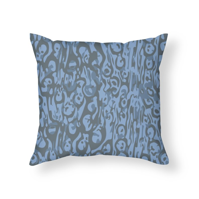 Gnamptogenys taivanensis - blue Home Throw Pillow by Holotype