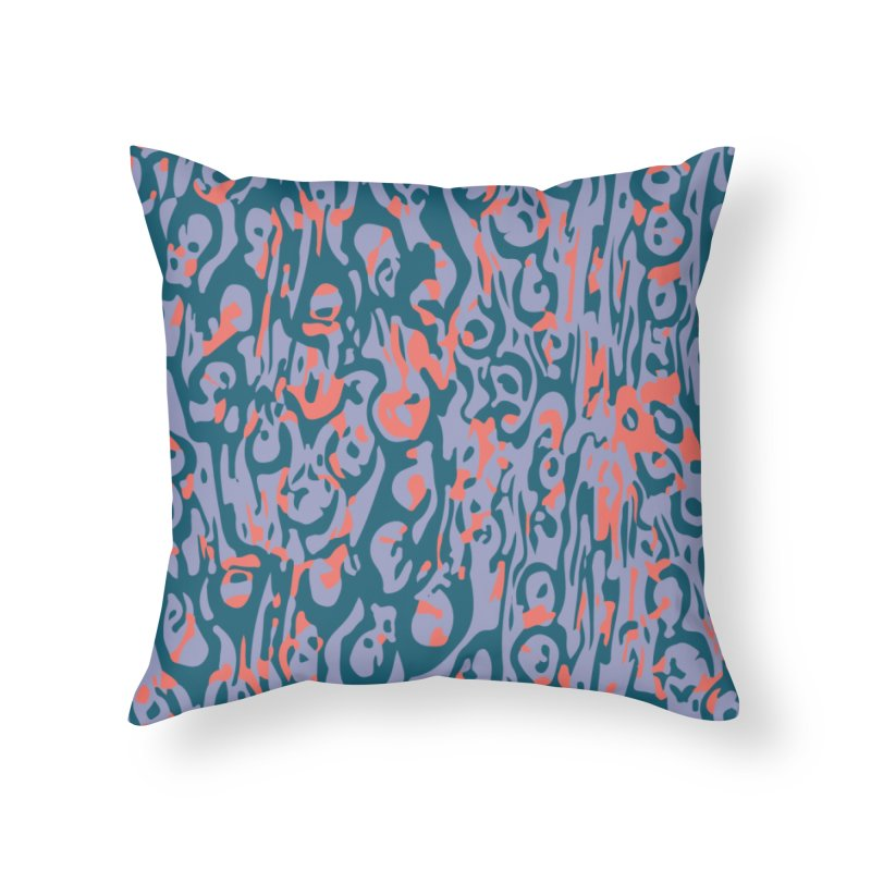 Gnamptogenys taivanensis - purple Home Throw Pillow by Holotype