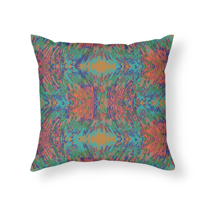 Pogonomyrmex badius - teal/orange Home Throw Pillow by Holotype