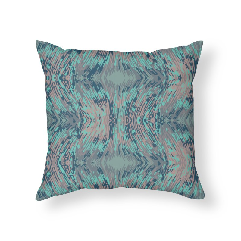 Pogonomyrmex badius - grey/blue Home Throw Pillow by Holotype