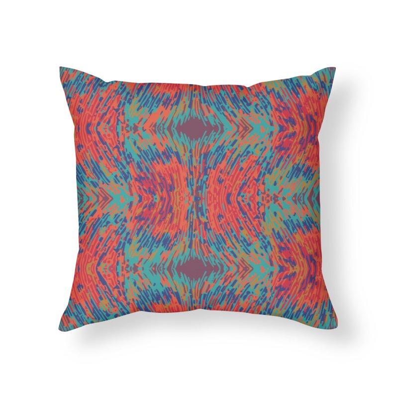 Pogonomyrmex badius - orange/blue Home Throw Pillow by Holotype