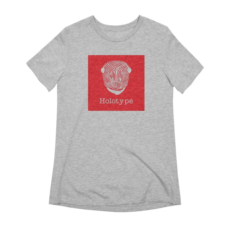 Holotype Square Logo - Red Women's Extra Soft T-Shirt by Holotype