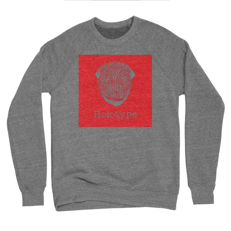 Holotype Square Logo - Red Women's Sponge Fleece Sweatshirt by Holotype