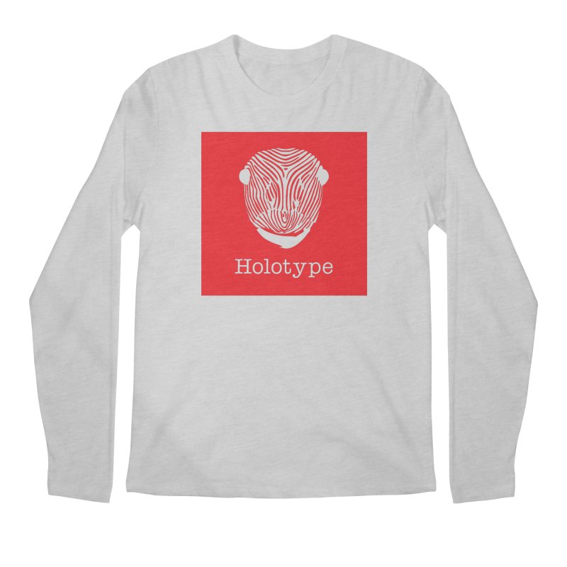 Holotype Square Logo - Red Men's Longsleeve T-Shirt by Holotype