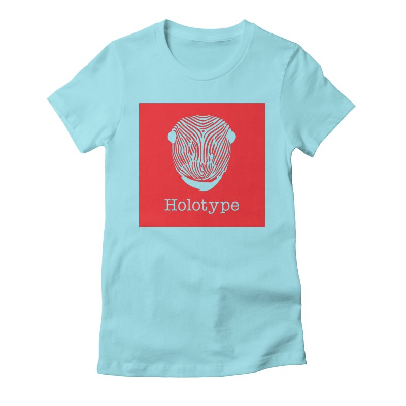 Holotype Square Logo - Red Women's Fitted T-Shirt by Holotype