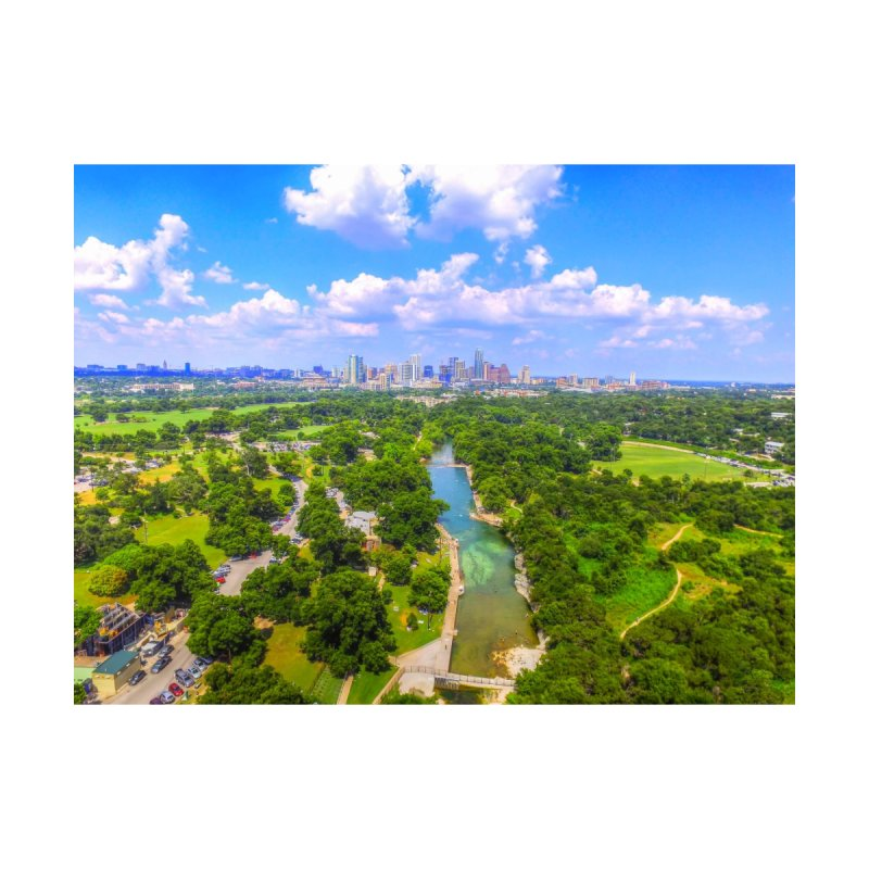 Barton Springs Pool / Custom Merchandise / Aerial Photography Men's T-Shirt by Holp Photography Artist Shop