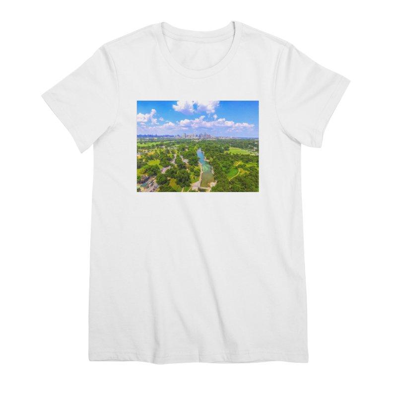 Barton Springs Pool / Custom Merchandise / Aerial Photography Women's Premium T-Shirt by Holp Photography Artist Shop