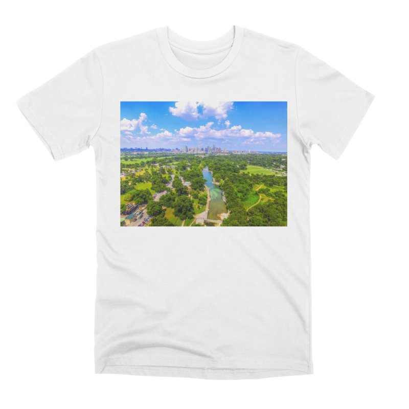 Barton Springs Pool / Custom Merchandise / Aerial Photography Men's Premium T-Shirt by Holp Photography Artist Shop